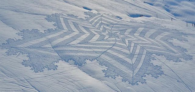 #snow #art by #SimonBeck #snowart #inspired #inspiration #impermanent #sculpture