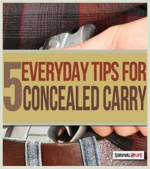 The 5 Best Concealed Carry Tips for Responsible Gun Owners | Emergency preparedness and survival lists at survivallife.com