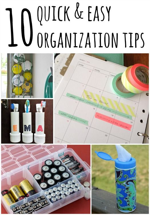 Get your home in shape quickly with these 10 quick and easy organization tips!