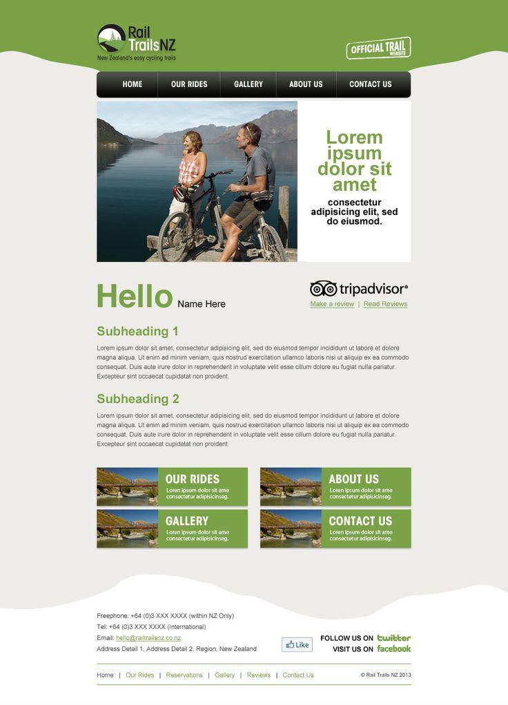 Rail Trails NZ umbrella newsletter design