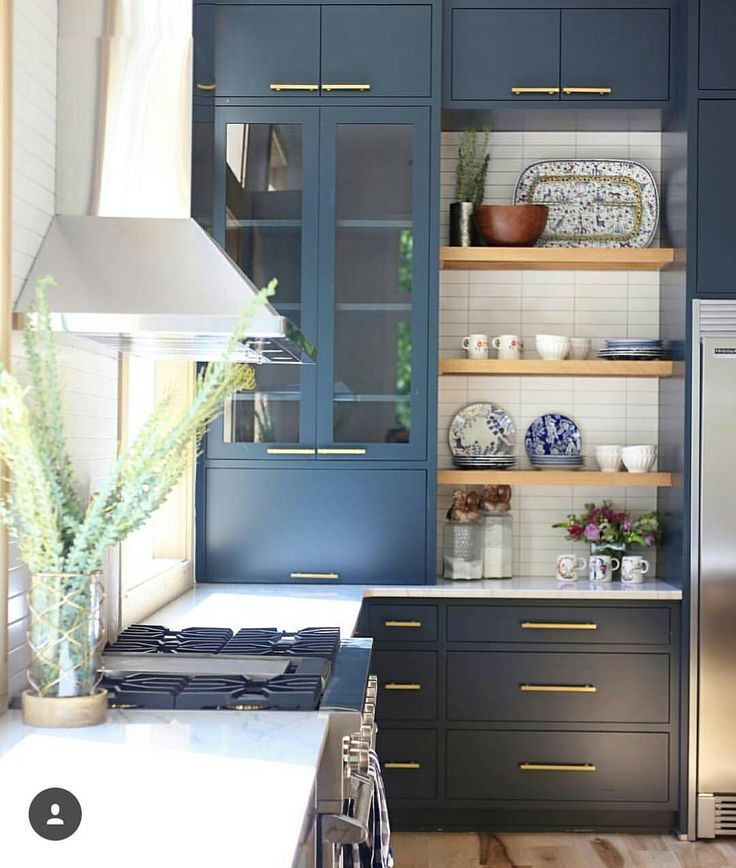 "1,473 Likes, 39 Comments - Kathleen Field • Utah Designer (@lindsay_hill_interiors) on Instagram: ""This pretty blue kitchen from @cbcbuilds is showing off at least two of the 2018 kitchen design…"""