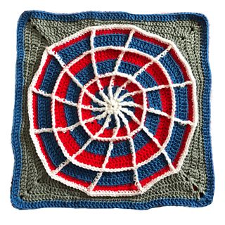 The Crochet Web Square is for the Action Packed Afghan that is being crocheted for Project Linus on board The Crochet Cruises for Fall 2017.
