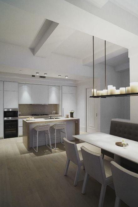 Houten vloer in keuken Piet Boon - Plank by Solidfloor