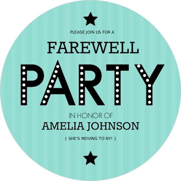 25+ parasta ideaa Pinterestissä Going away party invitations - farewell invitation template