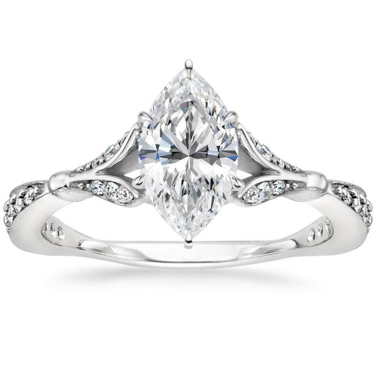 18K White Gold Zinnia Diamond Ring (1/3 ct. tw.)