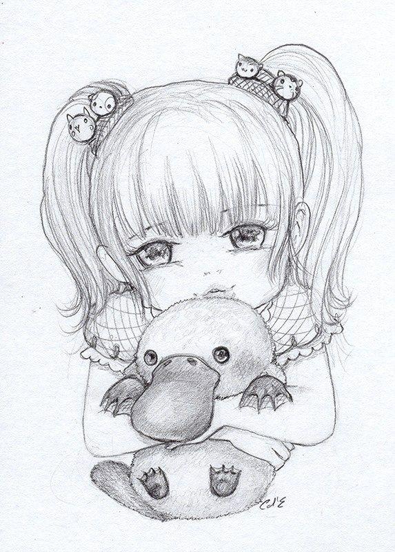 Pencil Work And Sketches Manga Coloring Book Sketches Cute Cartoon Drawings