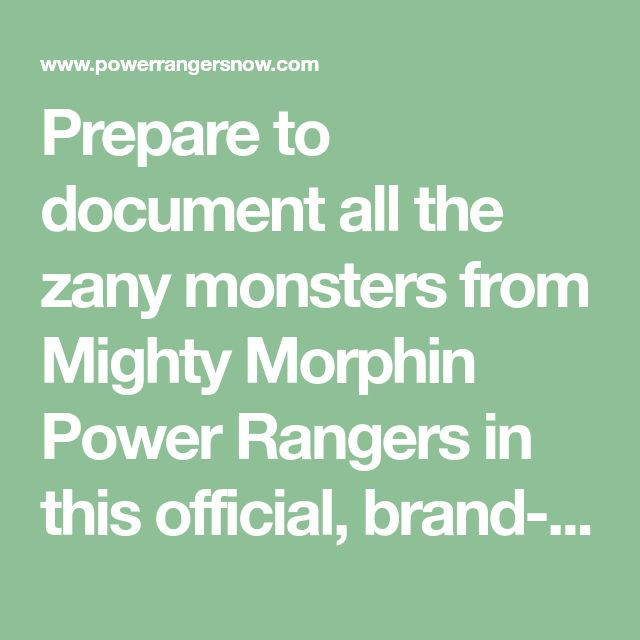 Prepare to document all the zany monsters from Mighty Morphin Power Rangers in this official, brand-new guide! Alien Encounters In Angel Grove hasbeen revealed – the ultimate Mighty Morphin Power Rangers monster guide. Written by Gabriel Cooper and published by Penguin Random House, the paperback book is slated for release in late June 2018 at ...