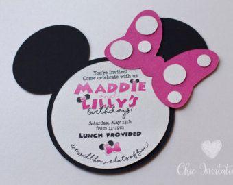Inviti Minnie Mouse invito oro Minnie Mouse di ChicInvitationsByCA