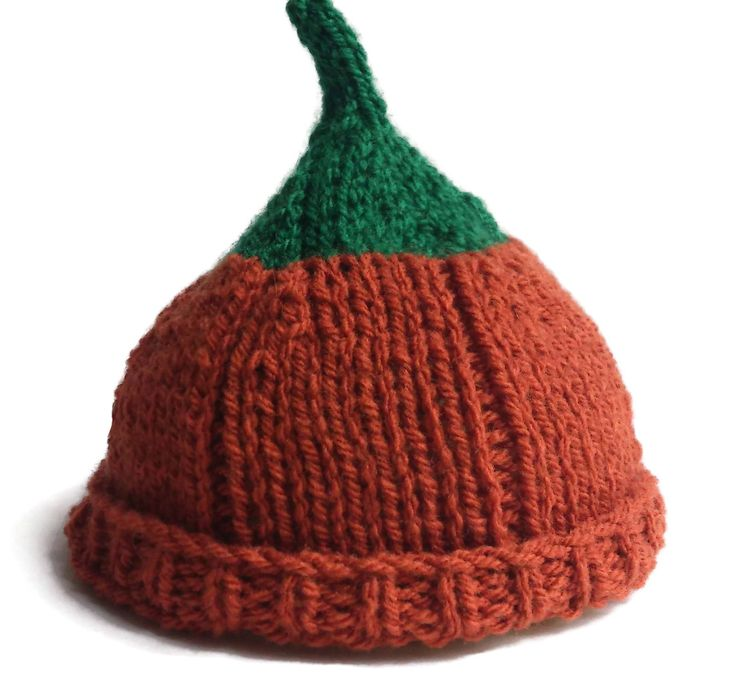 Baby Pumpkin Hat Fruit Beanie Hand Knitted, Fall Winter Autumn Mom and Baby