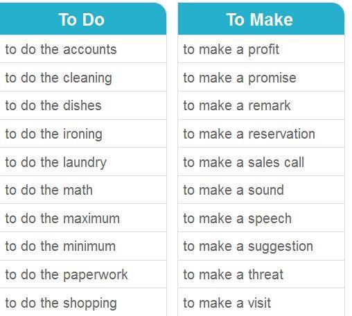 To do & To make 1