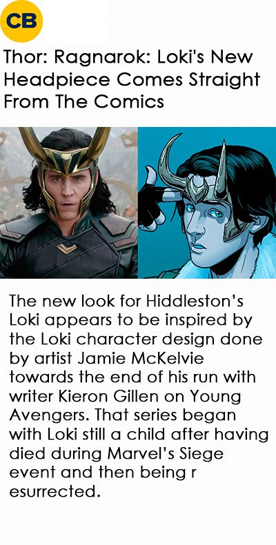 Thor: Ragnarok: Loki's New Headpiece Comes Straight From The Comics. Link: Thor: Ragnarok Teaser Trailer_Gif-set