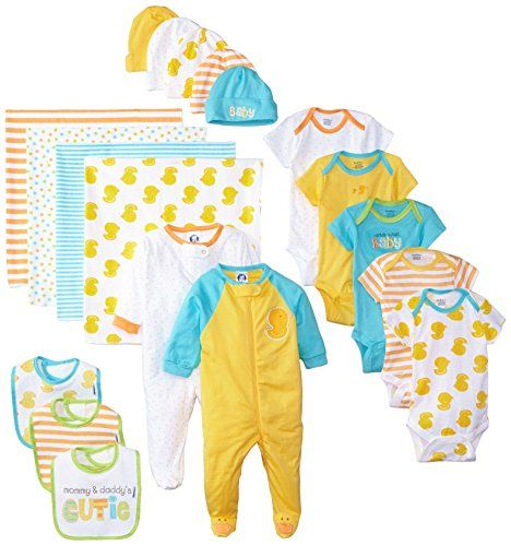 Gerber Unisex-Baby Newborn World's Cutest Baby Gift Set, 19 Piece   The perfect baby starter set. Gerber's 19-piece set features key essentials every new baby needs in his/her wardrobe is 5 Gerber cotton Read  more http://shopkids.ca/baby-boys/gerber-unisex-baby-newborn-worlds-cutest-baby-gift-set-19-piece