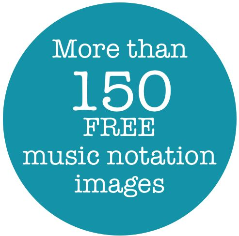 More than 150 free music notation images
