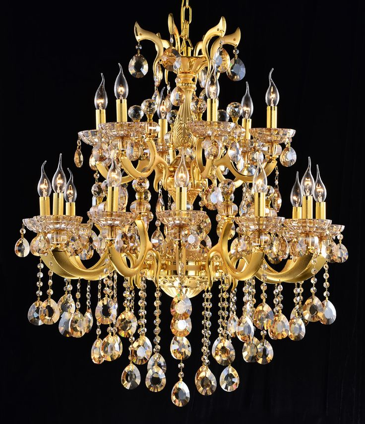 Outdoor Lights Gold Coast: Luxury Gold Color Crystal Chandelier