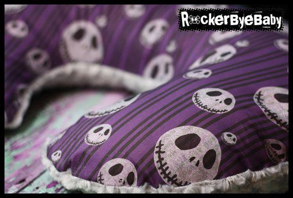 Custom Punk Rock Boppy Cover Nightmare before by RockerByeBaby