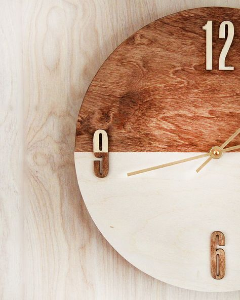 Expensive Looking DIY Wedding Gift Ideas - DIY Wood Stained Clock - Easy and Unique Homemade Gift Ideas for Bride and Groom - Cheap Presents You Can Make for the Couple- for the Home, From The Kids, Personalized Ideas for Parents and Bridesmaids | http://diyjoy.com/cheap-diy-wedding-gifts