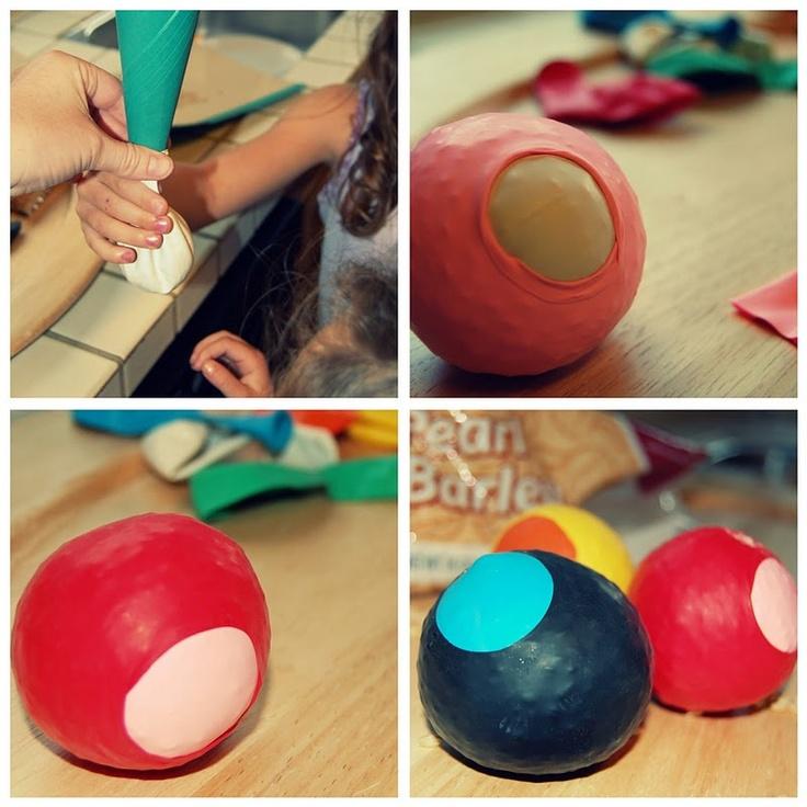 Handmade juggling balls