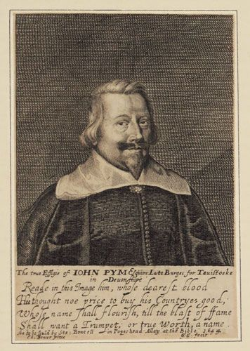 John Pym (1584-1643) was one of the most influential Parliamentarians, and in 1628 he led the demand for a Petition of Right as a curb to Royal power. His own power and influence grew rapidly and he played a leading part in the impeachment and trial of Strafford in 1641. In the following year, King Charles I offered him the position of Chancellor of Exchequer in an unsuccessful attempt to secure his support...