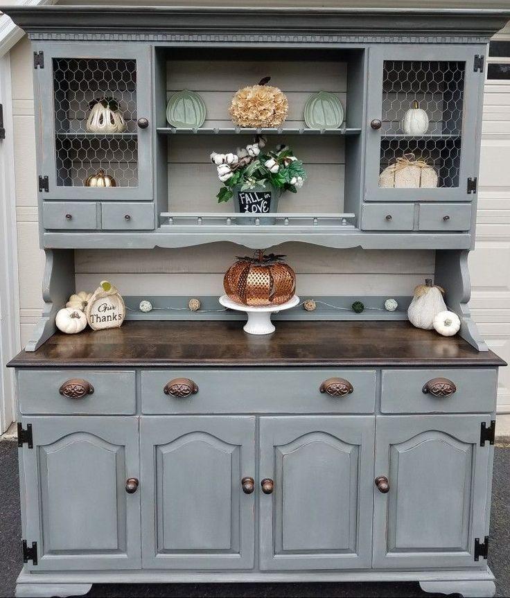 Pin On Hutches, Kitchen Cabinet Hutch Ideas