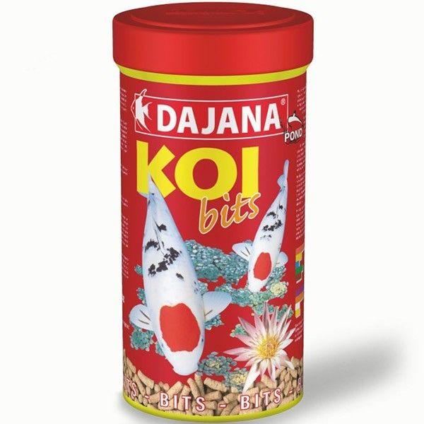 Dajana Koi Bits Alimento flotante y de fácil digestión. Ideal para carpas decorativas, carassius y todo tipo de peces de estanque.