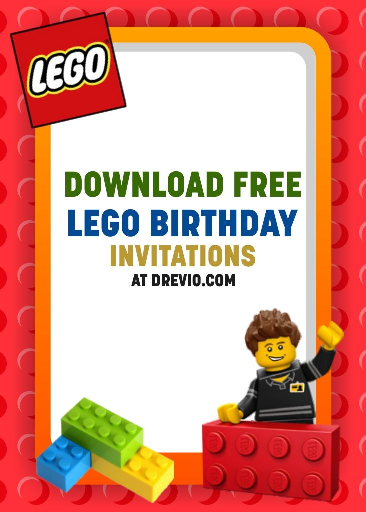Free Printable Lego Birthday Invitation Templates Lego