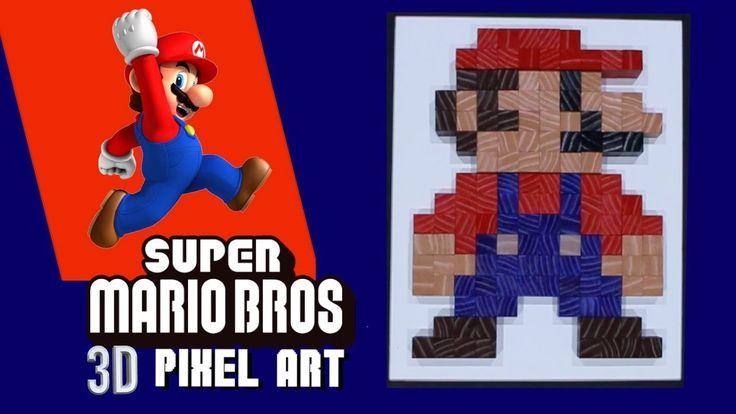 HOW TO MAKE PIXEL ART **SUPER MARIO 8 BIT ART** - YouTube
