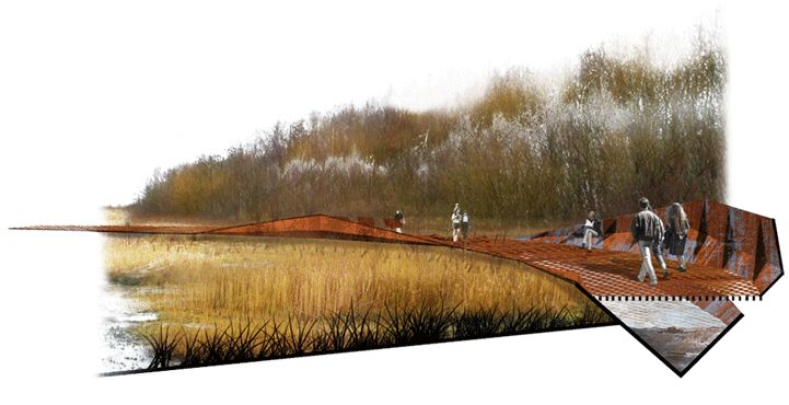 Cronton Colliery / Hassell render / watercolour / vignette / white