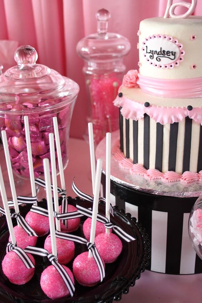 Parisian party...love the black + white stripes