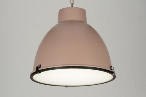 Huis decoratie interieur verlichting . nieuw landelijke romantische oud roze industriele hanglamp 43cm. Verlichting voor woonkamer keuken tafel slaapkamer salontafel of winkel . Voor een leuke prijs bij www.rietveldlicht.nl