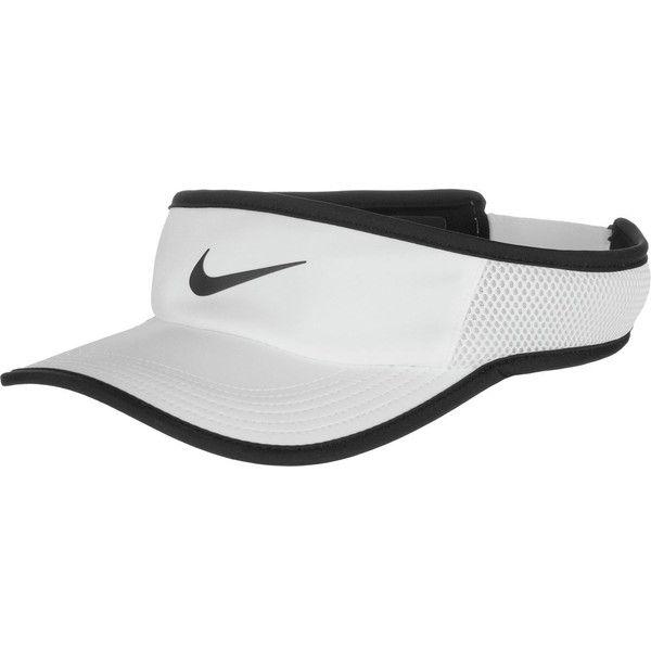 Nike AeroBill Featherlight Adjustable Visor ($24) ❤ liked on Polyvore featuring accessories, sun visor, nike and nike sun visor