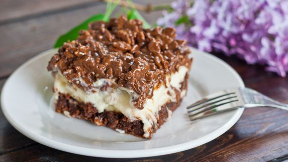 Triple Bypass Brownies. Martha Stewart brownie recipe topped with a cheesecake layer