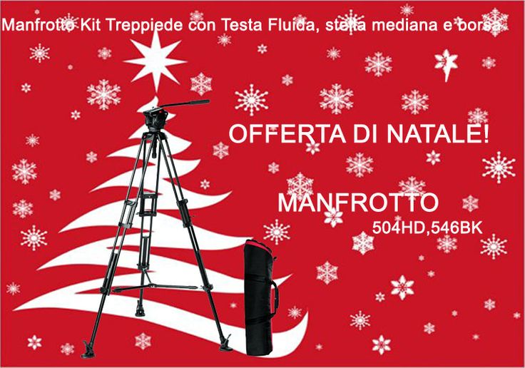 Offerta di Natale! Manfrotto Kit Treppiede con Testa Fluida, stella mediana e borsa Info: https://www.adcom.it/it/treppiedi-supporti/cavalletti-kit-operativi/video-2-stadi-alluminio/manfrotto-504hd-546bk/p_n_30_283_1035_27068