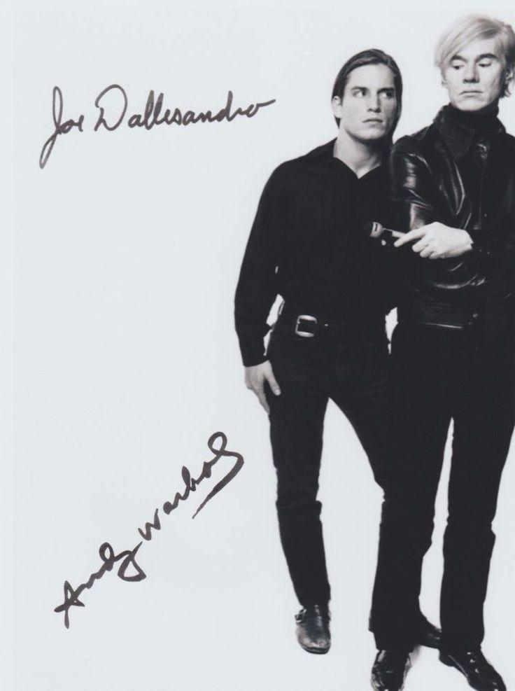 Andy Warhol (Deceased) & Joe Dallesandro Flesh Trash RARE DUEL-SIGNED RP 8X10!!!