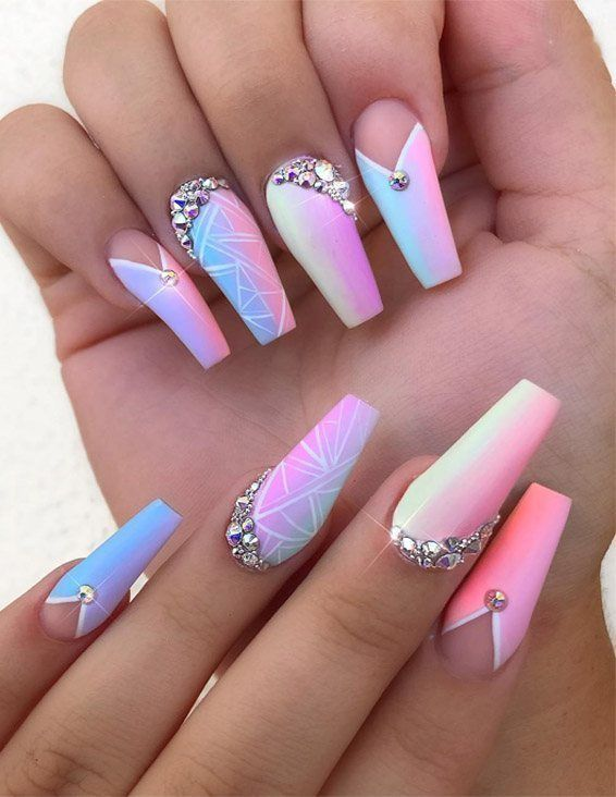 Coolest Nail Designs Styles You Can Wear Now Stylesmod Swag Nails Summer Acrylic Nails Best Acrylic Nails