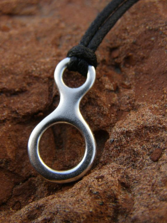 Figure 8 Descender Pendant Sterling Silver by CocoClimbingJewelry