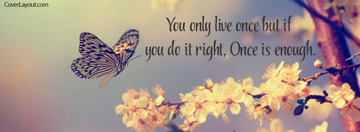 You Only Live Once But You do it right Facebook Cover coverlayout.com