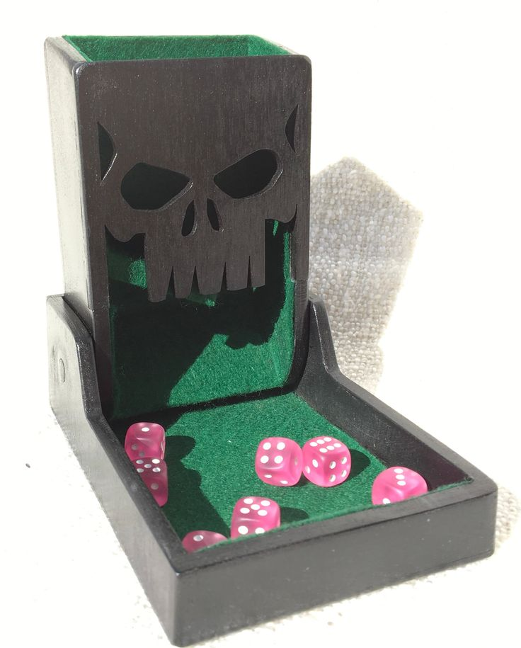 Foldable dice tower with skull s dice tower foldables