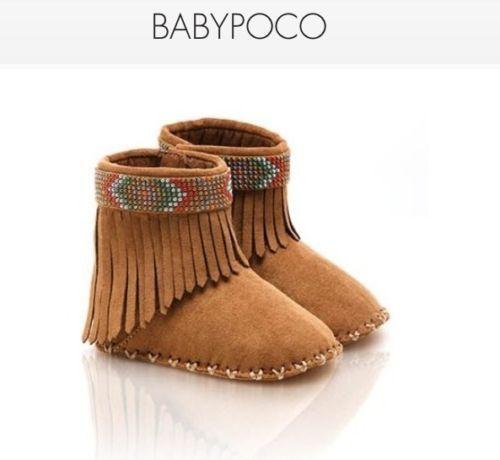 Brand New Baby Girl Stuart Weitzman Baby Poco Moccasin Boots Infant Size 2   eBay