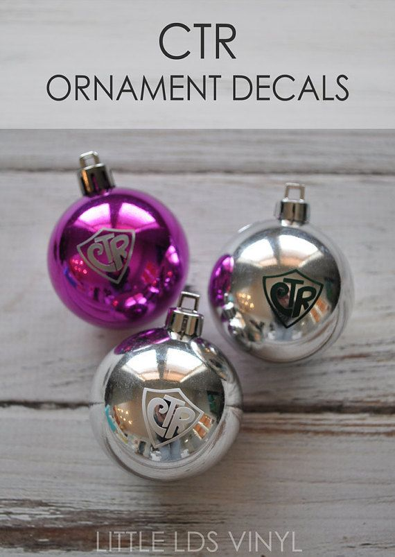 CTR Ornament Vinyl Decal: Packs of 20