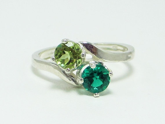 Peridot, Emerald, and Sterling Silver, $58.00: Rings Sterling, 5800, Sterling Silver, Peridots And Emeralds, Emerald Rings, Green Rings, Jewelry Rings, Emeralds Rings
