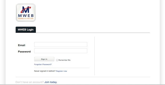 mweb co za email login