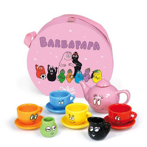 Mini-servies / thee setje van Barbapapa