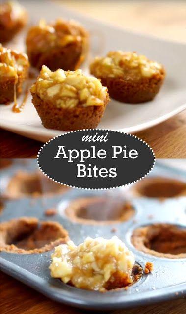 Mini Caramel Apple Pie Bites Recipe DIY   Handy & Homemade