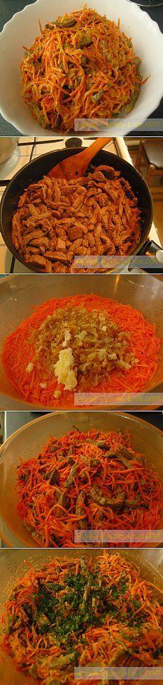 Салат с печенью - пошаговый рецепт салат по корейски