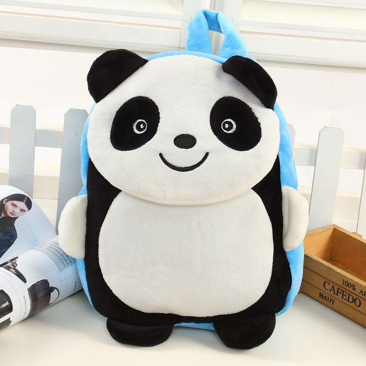 Cute Panda Children's Backpack (Red of Blue)