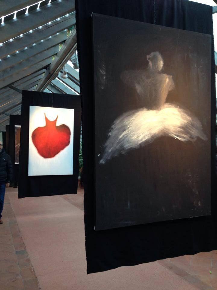 Ballerina e tutu. Mostra presso il giardino Torrigiani a Firenze. Olio su tela. www.ritapedulla.it #ballerina #dance #cloud #nuvola #heart #cuore #oiloncanvas #ritapedullà