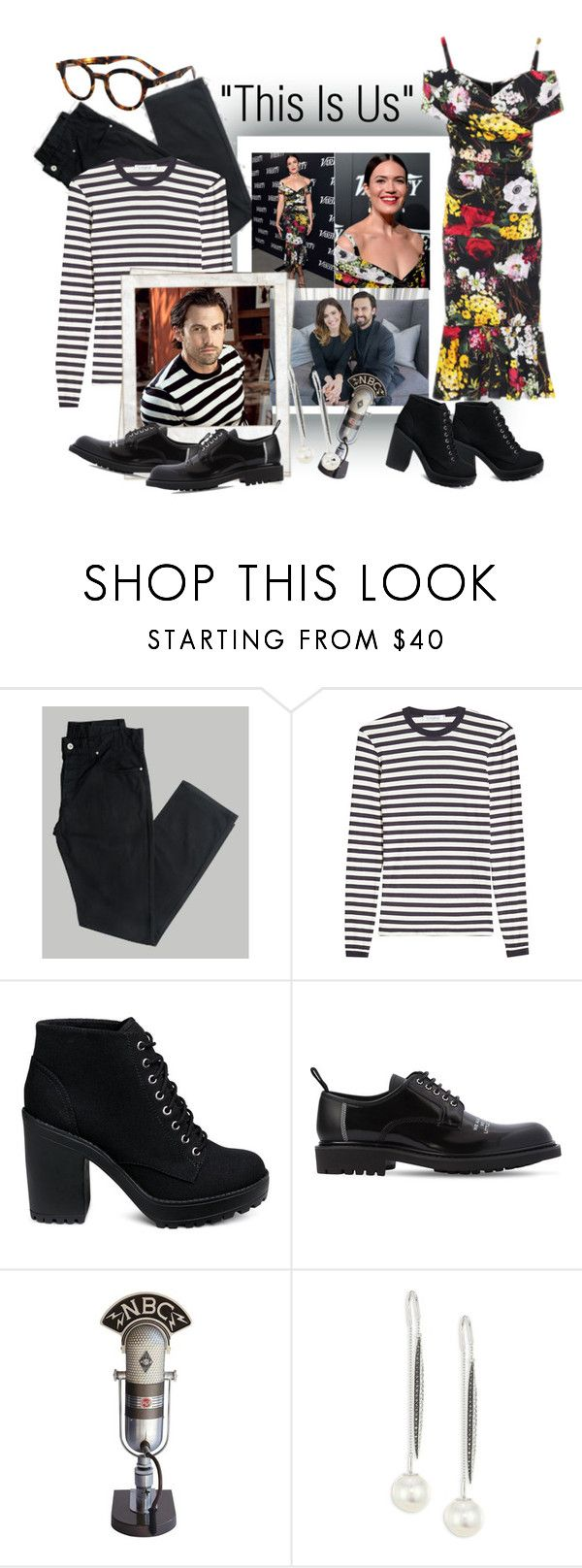 """""""NBC's """"This Is Us"""""""" by cigoehring ❤ liked on Polyvore featuring MaxMara, Dolce&Gabbana, Polaroid, Christian Dior, RCA, Yoko London and eyebobs"""