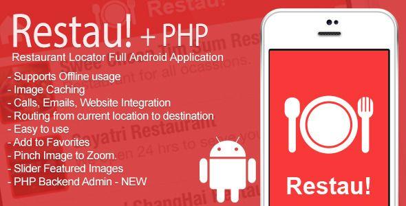 nice Full Restaurant Locator Android App