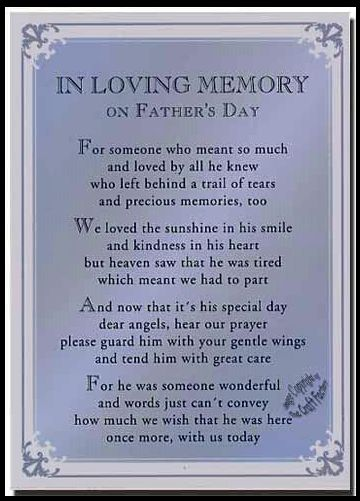 Poems Dad Heaven My Missing
