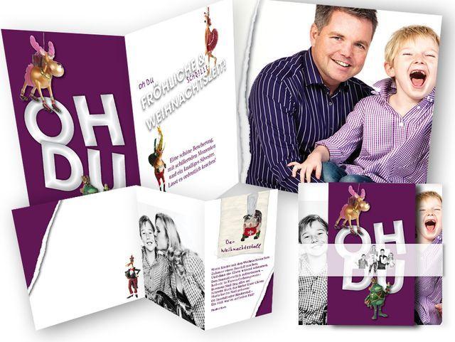 Oh+du+fröhliche+und+schrille+Weihnachtszeit+-+peppige+Weihnachtskarte